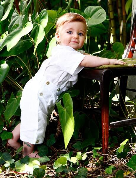Jardineira Linho Branca