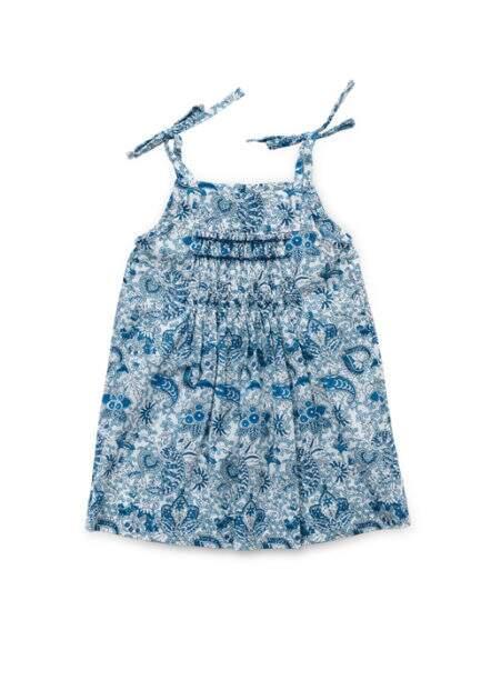 Vestido Estampa Cashmere Azul